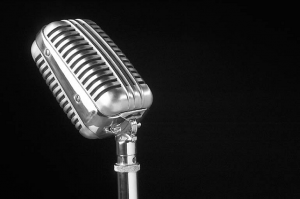 Antique-silver-microphone